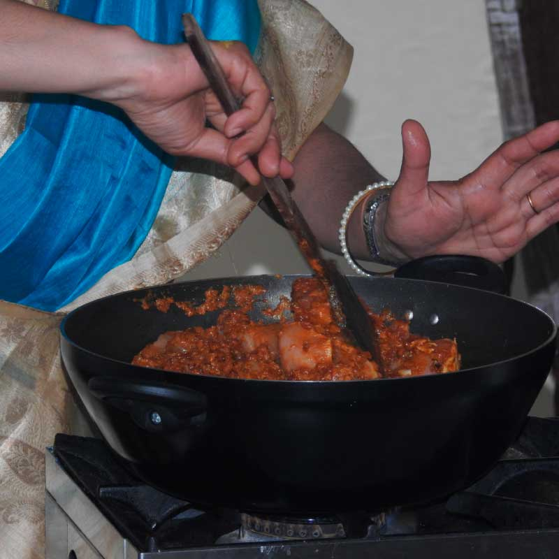 Cooking with Mili - Indian home cooking demonstration image